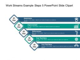 Work Streams Example Steps 5 Powerpoint Slide Clipart