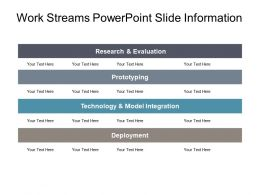 Work Streams Powerpoint Slide Information