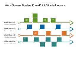 Work Streams Timeline Powerpoint Slide Influencers