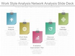 Work Style Analysis Network Analysis Slides Deck
