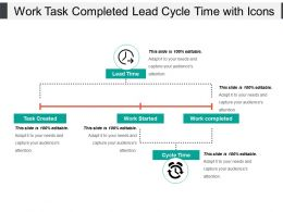 Work Task Completed Lead Cycle Time With Icons