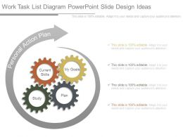 Work Task List Diagram Powerpoint Slide Design Ideas