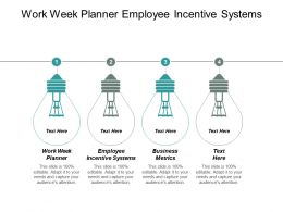 Work Week Planner Employee Incentive Systems Business Metrics Cpb