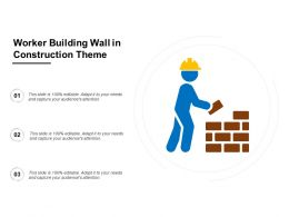 Worker Building Wall In Construction Theme