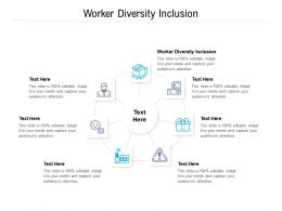 Worker Diversity Inclusion Ppt Powerpoint Presentation Show Cpb