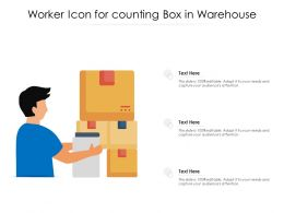 Worker Icon For Counting Box In Warehouse