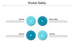 Worker Safety Ppt Powerpoint Presentation Ideas Portfolio Cpb