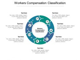 Workers Compensation Classification Ppt Powerpoint Presentation Slides Topics Cpb