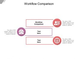 Workflow Comparison Ppt Powerpoint Presentation Infographics Example Introduction Cpb
