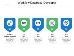 Workflow Database Developer Ppt Powerpoint Presentation Gallery Layouts Cpb