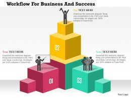 Workflow For Business And Success Flat Powerpoint Design