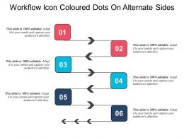 Workflow Icon Coloured Dots On Alternate Sides