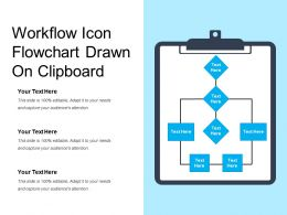 Workflow Icon Flowchart Drawn On Clipboard