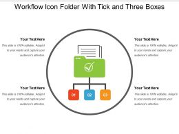 Workflow Icon Folder With Tick And Three Boxes