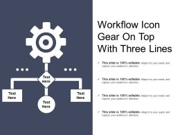 Workflow Icon Gear On Top With Three Lines