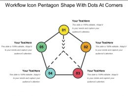 Workflow Icon Pentagon Shape With Dots At Corners