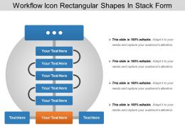 Workflow Icon Rectangular Shapes In Stack Form
