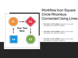 Workflow Icon Square Circle Rhombus Connected Using Lines