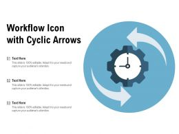 Workflow Icon With Cyclic Arrows