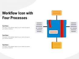 Workflow Icon With Four Processes