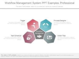 Workflow Management System Ppt Examples Professional
