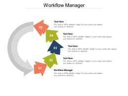 Workflow Manager Ppt Powerpoint Presentation Summary Slideshow Cpb