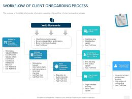 Workflow Of Client Onboarding Process Ppt Powerpoint Presentation Infographics