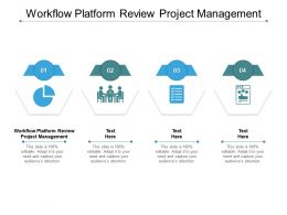 Workflow Platform Review Project Management Ppt Powerpoint Presentation Slides Information Cpb