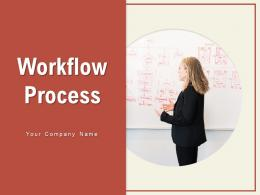 Workflow Process Approved Symbol Arrows Network Process Gear Document