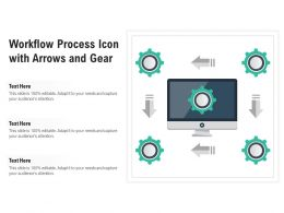 Workflow Process Icon With Arrows And Gear