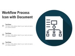 Workflow Process Icon With Document