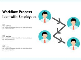 Workflow Process Icon With Employees