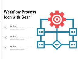 Workflow Process Icon With Gear