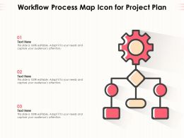 Workflow Process Map Icon For Project Plan