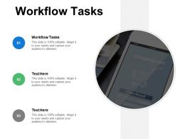 Workflow Tasks Ppt Powerpoint Presentation Ideas Graphic Images Cpb