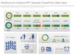 Workforce At A Glance Ppt Example Powerpoint Slide Deck