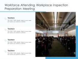 Workforce Attending Workplace Inspection Preparation Meeting