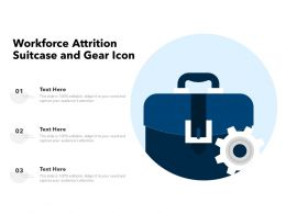 Workforce Attrition Suitcase And Gear Icon