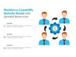Workforce Capability Maturity Model With Upward Arrow Icon