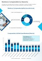 Workforce Compensation By Hierarchy Presentation Report Infographic PPT PDF Document