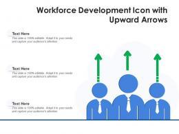 Workforce Development Icon With Upward Arrows
