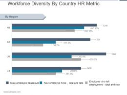 Workforce Diversity By Country Hr Metric Powerpoint Show