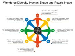 Workforce Diversity Human Shape And Puzzle Image