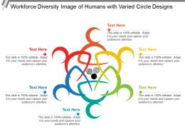 Workforce Diversity Image Of Humans With Varied Circle Designs
