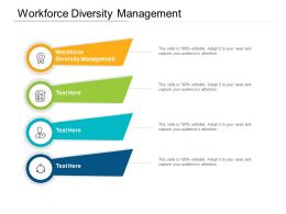 Workforce Diversity Management Ppt Powerpoint Presentation Pictures Inspiration Cpb