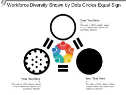 Workforce Diversity Shown By Dots Circles Equal Sign