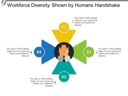Workforce Diversity Shown By Humans Handshake