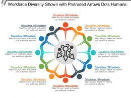 Workforce Diversity Shown With Protruded Arrows Dots Humans