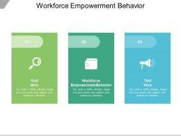Workforce Empowerment Behavior Ppt Powerpoint Presentation Inspiration Design Ideas Cpb