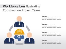 Workforce Icon Illustrating Construction Project Team